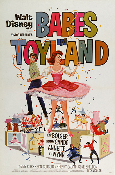 <em>Babes in Toyland</em> movie poster, 1961; collection of the Walt Disney Family Foundation, © Disney.