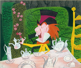 Visual development, Alice in Wonderland, Mary Blair, c. 1951; collection of the Walt Disney Family Foundation, © Disney.