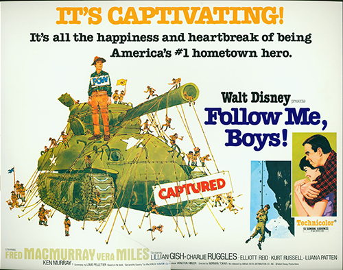 Follow Me Boys! movie poster, 1966; collection of the Walt Disney Family Foundation, © Disney.
