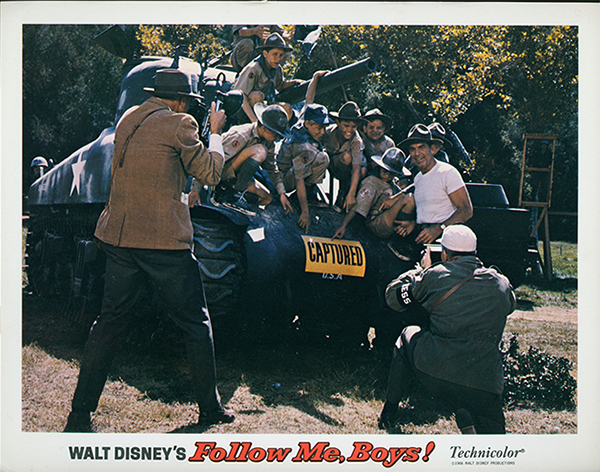 Follow Me, Boys! lobby card, 1966; collection of the Walt Disney Family Foundation, © 1966 Disney.