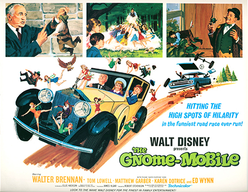 The Gnome-Mobile poster, c. 1967; collection of the Walt Disney Family Foundation, gift of Dean Barickman, © Disney.