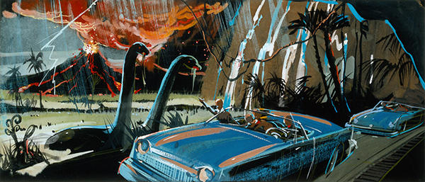 John Hench concept painting for Ford's Magic Skyway, ca. 1963; courtesy of the Walt Disney Archives Photo Library, © Disney.