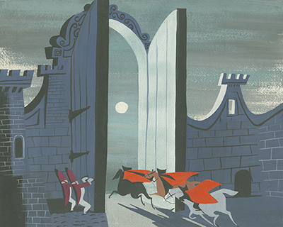 Mary Blair Cinderella concept painting, collection of the Walt Disney Family Foundation, © Disney.