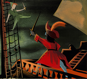 Visual development Peter Pan (1953), Mary Blair; collection of the Walt Disney Family Foundation, © Disney.