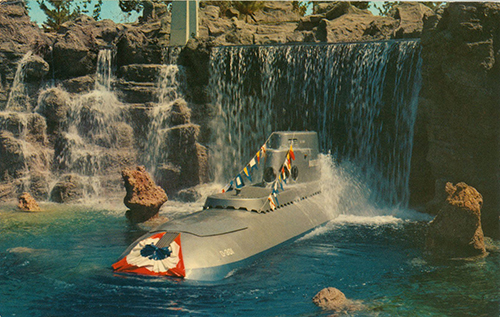 <em>Submarine Voyage</em> postcard, ca.1959; collection of the Walt Disney Family Foundation, © Disney.