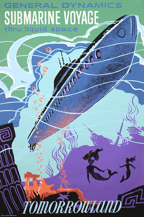 <em>Submarine Voyage</em> Tomorrowland poster, ca.1959; collection of the Walt Disney Family Foundation, © Disney.