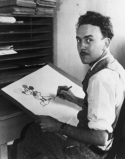 Ub Iwerks drawing Mickey Mouse, 1929; collection of the Walt Disney Family Foundation, © Disney.