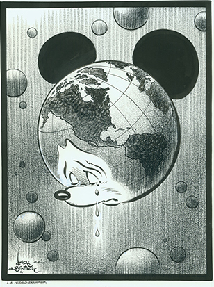 Crying Mickey published by Los Angeles Examiner; collection of the Walt Disney Family Foundation.