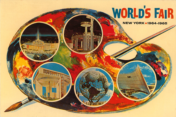 New York World's Fair postcard, c.1964; collection of the Walt Disney Family Foundation