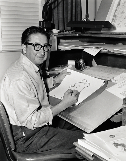 X. Atencio drawing Winnie the Pooh (Winnie the Pooh and the Honey Tree, 1966); courtesy of the Walt Disney Archives Photo Library, © Disney.