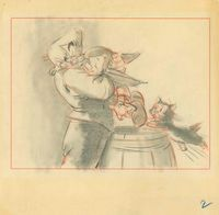 Story Sketch, c.1940 Disney Studio Artist Pinocchio, 1940 Graphite and colored pencil on animation paper Walt Disney Family Foundation, Gift of Walter E.D. Miller, ©Disney