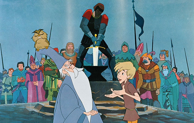 an analysis of arthurs education in the sword in the stone a film by walt disney End of story walt cared for artists and for creating an environment in which his films could be produced happily and efficiently it is also hard to believe that a letter seeking employment to the disney studio was.