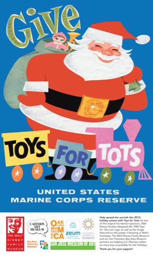 Toys For Tots Train Logo : Walt gives back toys for tots the disney family