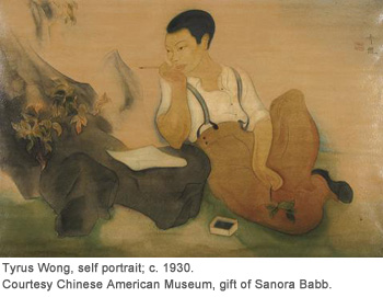 Tyrus Wong, self portrait