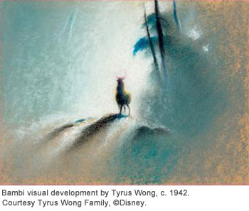 Bambi visual development by Tyrus Wong